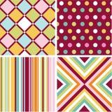 Naadloze patronen met stoffentextuur Stock Afbeeldingen