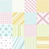 Naadloze patronen met stoffentextuur Stock Foto