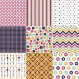 Naadloze patronen met stoffentextuur Royalty-vrije Stock Afbeelding