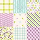 Naadloze patronen met stoffentextuur Royalty-vrije Stock Fotografie
