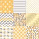 Naadloze patronen met stoffentextuur Stock Fotografie