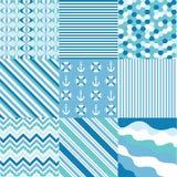Naadloze patronen met stoffentextuur Stock Afbeelding