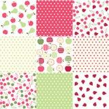 Naadloze patronen met stoffentextuur Royalty-vrije Stock Afbeeldingen