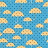 Naadloze patronen van paraplu's Royalty-vrije Stock Foto's
