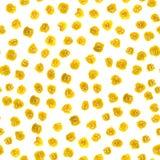 Naadloze patronen van waterverfvlekken en witte achtergrond met willekeurige elementen Gestippeld abstract patroon voor het ontwe stock illustratie