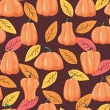 Naadloze patronenpompoen Halloween-vectorillustratie als achtergrond vector illustratie