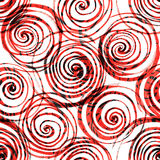 Naadloze patroon abstracte rozen Stock Foto