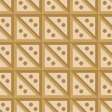 Naadloze patroon beige vierkanten Stock Fotografie