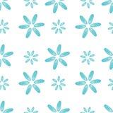 Naadloze patroon blauwe shells mosselenbloemen Stock Afbeelding