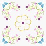 Naadloze patroon bloemen, blauwe vlinder Royalty-vrije Stock Foto's