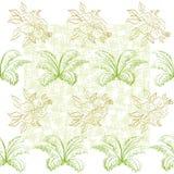Naadloze patroon, bloemen en installatie Royalty-vrije Stock Afbeelding