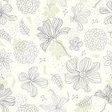 Naadloze patroon bloemenachtergrond Royalty-vrije Stock Afbeeldingen