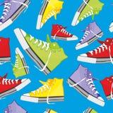Naadloze patroon geïsoleerden schoenen Stock Fotografie