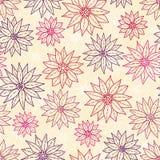 Naadloze patroon grafische bloemen. Royalty-vrije Stock Afbeeldingen