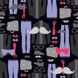 Naadloze patroon hipster kleding Stock Fotografie