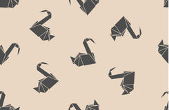 Naadloze patroon Japanse document origamikranen Kan voor Web-pagina achtergronden, oppervlaktetexturen, achtergrond op bedrijfsau Royalty-vrije Stock Fotografie