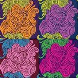 Naadloze patroon mooie decoratieve krullen Royalty-vrije Stock Foto