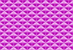Naadloze patroon purpere gewatteerde stof stock illustratie
