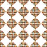 Naadloze patroon retro vorm met cirkels Stock Fotografie