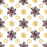 Naadloze patroon rijke beste achtergrond Royalty-vrije Stock Foto