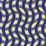 Naadloze patroon Schotse cel, patroongolven, blauw, sinaasappel Stock Afbeelding