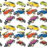 Naadloze patroon uitstekende auto's Stock Foto