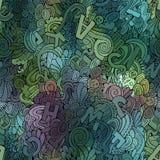 Naadloze patroon van brieven het abstracte decoratieve krabbels. Royalty-vrije Stock Fotografie