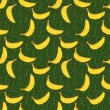 Naadloze Patroon van de banaan het hand getrokken schets Vector illustratie Royalty-vrije Stock Foto's