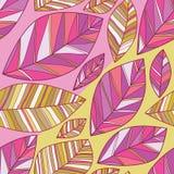 Naadloze patroon van de blad het grote kleine pastelkleur royalty-vrije illustratie