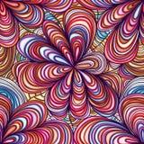 Naadloze patroon van de bloem het grote stijl vector illustratie