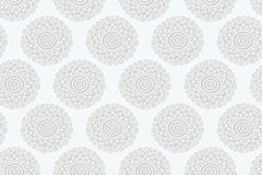Naadloze patroon van de Boho het witte bloem Royalty-vrije Stock Afbeeldingen