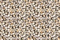 Naadloze patroon van de brandhout free-standing stapel royalty-vrije stock afbeelding