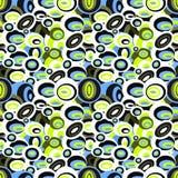 Naadloze patroon van de psychedelische parels het vectorillustratie Royalty-vrije Stock Foto