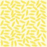 Naadloze patroon van Fusilli het Italiaanse deegwaren Stock Fotografie