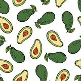 Naadloze patroon van het avocado het tropische fruit vector illustratie