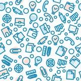 Naadloze patroon van het bedrijfs het Vette Lijnpictogram Stock Afbeelding