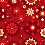 Naadloze patroon van het bloem het Chinese Nieuwjaar stock illustratie
