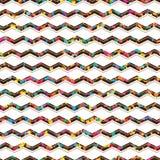 Naadloze patroon van het chevron het kleurrijke stuk Royalty-vrije Stock Foto