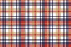 Naadloze patroon van het controle het klassieke geruite Schots wollen stof vector illustratie
