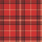 Naadloze patroon van het controle het rode geruite Schots wollen stof vector illustratie