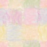 Naadloze patroon van het Grunge het gestreepte golvende dekbed Stock Afbeeldingen