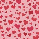 Naadloze patroon van het liefde het rode hart royalty-vrije illustratie