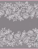 Naadloze Patroon van het rozen het Verticale Kant stock illustratie