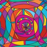 Naadloze patroon van het wervelings het grote ontwerp vector illustratie