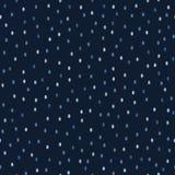 Naadloze patroon van indigo het blauwe grafische ditsy stippen De moderne confetti omcirkelt vectorillustratie stock illustratie