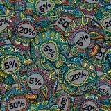 Naadloze patroon van verkoop het decoratieve vectoretiketten Royalty-vrije Stock Fotografie