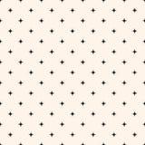 Naadloze Patroon Vector Achtergrond Minimale Tegels of Stoffenoverhemdstextuur met Sterren stock illustratie