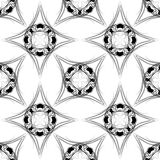 Naadloze patroon vectorillustratie Stock Afbeeldingen