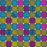 Naadloze Patroon Verschillende Ritmen van Lijnen Stock Afbeelding