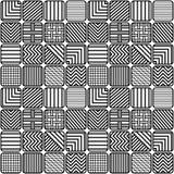 Naadloze Patroon Verschillende Ritmen van Lijnen Stock Fotografie